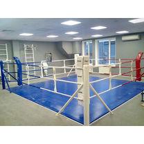 Ринг боксерский напольный Sportko 7м на 7м, по канатам 6м на 6м